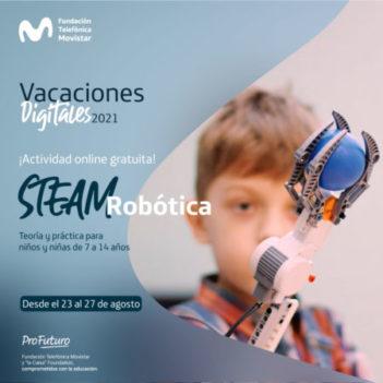 STEAM con Robótica - Inscripción desde el 9 de agosto